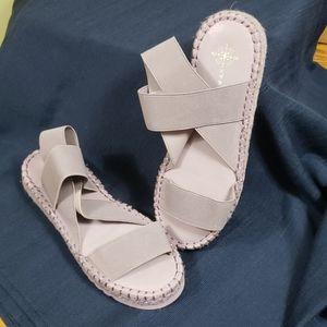 Free People Lilac Stretch Strap Sandal